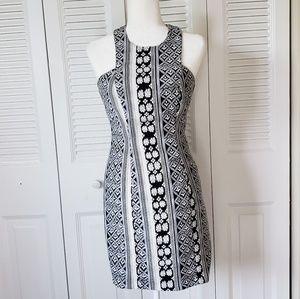 Plenty Black and White Brocade Dress